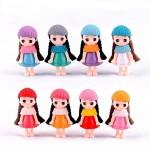 1pc Long Hair Girls figures Cartoon Character Miniature FigurineWholesale Price Fairy Garden Supply  Anime garden Cake Decoration action model doll DIY accessories