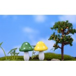 Moss Fairy Garden Micro Landscape Miniature Garden Decorate Fairy Garden Decoration Fairy Garden Accessories  Wood Big Mushroom  Mini Big Small Mushroom  Succulent Plants Fairy Garden Ornament