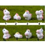 Cute Rainbow Unicorn Mini Figurines Craft Plant Pot Miniature Christmas Fairy Garden Ornaments home decoration accessories