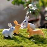 Mini Fairy Garden Animals Cartoon Rabbit Figurine Dolls Pot Bonsai Resin Crafts Accessories Decor Animals Terrariums Fairy Garden Decoration Wholesale Fairy Garden Accessories Supplies Lovely Mini Rabbit Small Kids Toys