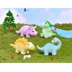 1pc new lovely Cartoon dinosaur Micro Landscape Garden Decoration Collection Model doll figure toys for kids gift