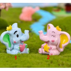 cute elephant lovers Micro Landscape Miniatures  elephant figurine for wedding decoration