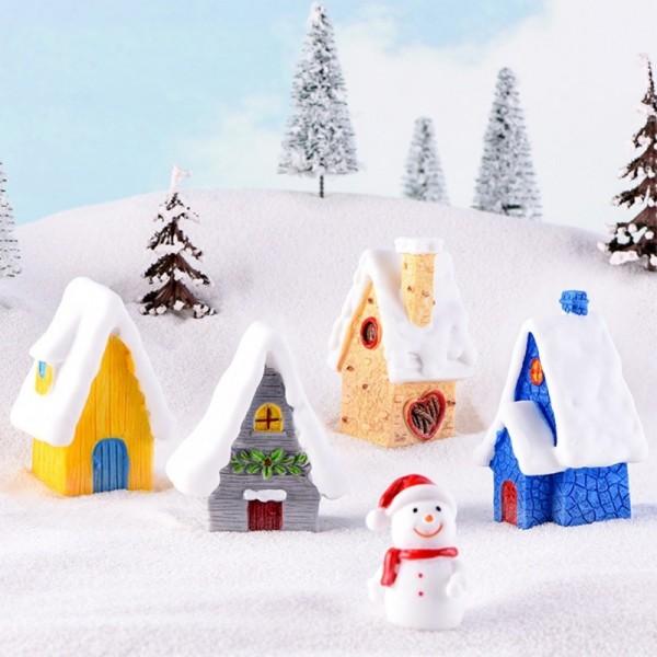 Miniature Christmas Tree Santa Claus Snowmen Terrarium Ornament Gift Fairy Garden Figures Home Table Decor Micro Landscape
