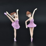PVC Plastic Ballerina Cake Topper Wedding Party Supplies Girl Baby Shower Birthday Party Decorations Kids Gift Cake Accessory Miniature Garden Fairy Ornaments