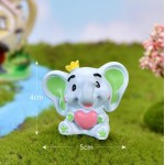cute elephant lovers Micro Landscape Miniatures  elephant figurine for wedding decoration