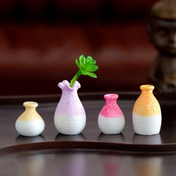 1 PC Resin Miniature Small Mouth Vase DIY Craft Accessory Home Garden Decoration Ornament Micro Landscape Fairy Garden Flowerpot Fairy Garden Supply