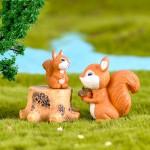 1 Pcs Cute Mini Fairy Garden Accessories Squirrel Animal Miniature Figurines Fairy Garden Ornaments Terrarium Decoration Accessories Resin Craft Supplies Fairy Garden Supply Miniature Garden Fairy Garden Supplies Fairy Gardens Accessories