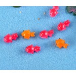 50pcs Resin Lovely Goldfish Miniatures Landscape Accessories For Home Garden Wholesale Price Fairy Garden Supply Cake Decoration Scrapbooking Craft Diy