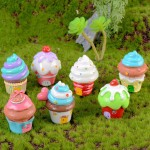 Cartoon Cake House Models Cute Anime Figure Succulents Assembly Ornaments DIY Creative Crafts Pendant Materials Figma Gifts Toys Wholesale Price Fairy Garden Supply