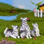 Hot DIY Dog Fairy Garden Figurines Resin  Miniature Cute Husky Cake Topper Ornament Micro-Landscape Doll House Decoration Wholesale Price Fairy Garden Supply