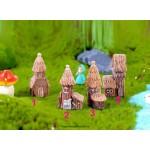 Countryside Cottage Model Woodeen House Miniature figurine simulation Landscape decoration fairy garden statue Home Gift garden Wholesale Price Fairy Garden Supply