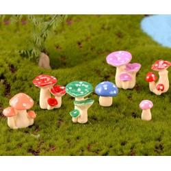 16 Styles Mushroom bush fairy garden miniature for terrarium resin figurine ornament miniaturas Potted plant decor
