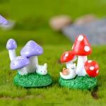 Animal Mushroom Bush Moss Micro Landscape Figurine Crafts Figure Ornament Miniatures Home Garden Decoration