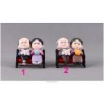 1set Mini Stool Couples Dolls Fairy Garden Miniatures Decor Dollhouse Terrarium Action Figures Figurine  Micro Landscape