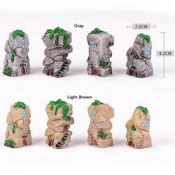 Resin Crafts Stone Castle Model Micro Fairy Garden Miniature Lovely Realistic Building DIY Accessories Decoration