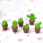 1 Piece Mini Green Potted Plants Lovely Cactus Desert Cacti Home Ornament  Crafts Cute Deco