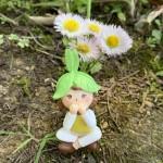 Cute Girls Gnome Figurine Miniature Fairy Garden Decor Micro Landscape Succulent Handmade Craft Gift Keychain Accessory