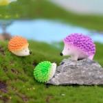 Miniature Ornament Hedgehog Decor Fairy Garden Hot Mini Hedgehog Figurines for Home Decoration Supplies