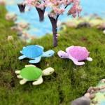 New Arrival 4PCS Mini Tortoise Miniature Fairy Garden Decoration Doll House Terrarium Micro Landscape Decoration Miniature Garden Animals Fairy Gardens Accessories