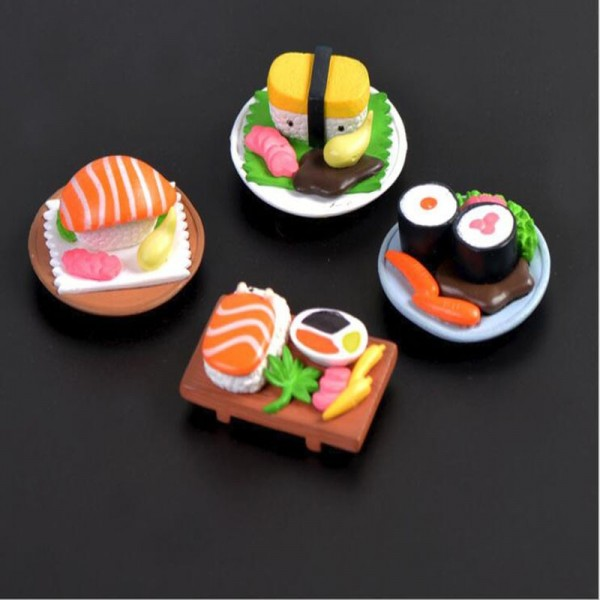 Sushi Scene Doll Micro Landscape Cartoon Cute Decoration Accessories  Assembly Materials Small Decoration Home Decorations