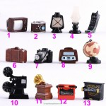 Baby Toy Lamp Oil Lamp Camera TV Piano for Doll House Decor Dollhouse Miniature Retro Simulation Furniture Model Toys