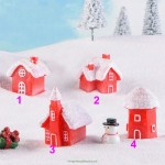 Merry Christmas Tree Decoration Hanging Small House Unique Resin Snow House New Year Garland Craft Gift Decor For Home