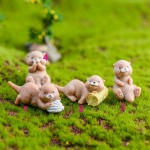 DIY Fairy Garden Dollhouse Bonsai Ornament Home Decor Otters Multi Style Figurine Animal Model Miniature Water Dog Fashion Gift