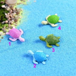 New Arrival 4PCS Mini Tortoise Miniature Fairy Garden Decoration Doll House Terrarium Micro Landscape Decoration