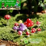 Bonsai Mushrooms Terrarium Artificial Plants Figurines Fairy Garden Accessories Miniatures Party Garden Mini Mushroom Garden Ornament Resin Crafts Decorations Miniature Garden Fairy Garden Supplies Fairy Ornaments