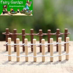 Moss Fairy Garden Micro Landscape Miniature Garden Fairy Garden Decoration Fairy Garden Accessories  Fence  Round Wooden Fence  Small Fence  FleshyFairy Garden Decoration Fairy Garden Accessories Fairy Garden Accessories Wood Arts and Crafts