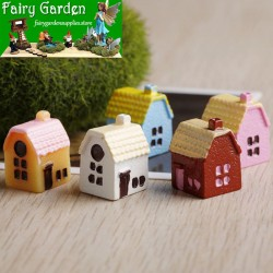 5 Color  Rural Small House   House   Resin Fairy Garden Decoration Fairy Garden Accessories  Moss Fairy Garden Micro Landscape Miniature Garden Fairy Garden Decoration Fairy Garden Accessories  Decorate Material Fairy Garden Accessories