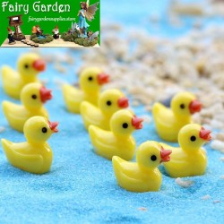 Small Yellow Duck  Doll  Toys Pendant   Moss Fairy Garden Micro Landscape Miniature Garden Fairy Garden Decoration Fairy Garden Accessories  Resin Arts and Crafts  Original Fairy Garden Decoration Fairy Garden Accessories Fairy Garden Ornament