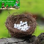 Mini Fairy Garden Birds Nest Decoration Fairy Garden Accessories Happy Birds Nest Birds Egg DIY Fairy Garden Accessories Terrarium Bird Nest Bonsai Fairy Garden Ornament