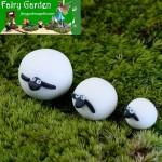 Mini Fairy Garden Animals Resin Sheep Figurine Indoor Micro Landscape Miniature Garden Fairy Garden Decoration Wholesale Fairy Garden Accessories Supplies Kids Doll Gift