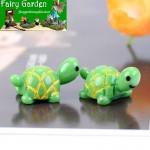 Cute Mini Fairy Garden Tortoise Micro Landscape Animals Miniature Garden Ecology Bottle Green Small Tortoise Doll Figurine DIY Landscaping Essential Moss Terrarium House Home Desktop Succulents Decor