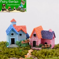 Rural Villa  Small House House  Fairy Garden Micro Landscape Miniature Garden  Resin Fairy Garden Decoration Fairy Garden Accessories  Original Arts and Crafts  Small Fairy Garden Decoration Fairy Garden Accessories