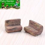 Zakka Terrariums Fairy Garden Decoration Log Stool Pot Bonsai Fairy Garden Accessories Stool Park Chairs Resin Arts and Crafts
