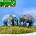 Wholesale Fairy Garden Accessories Supplies Resin Animals Micro Landscape Miniature Garden Decorate Pot Bonsai Fairy Garden Decoration Terrariums Fairy Garden Kits Comic Cartoon Emulational Elephant Doll Toy Figurine Kids Gift