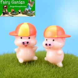 Moss Fairy Garden Micro Landscape Miniature Garden Material  Lovely  McDull Pig DIY Ecology Bottle Fairy Garden Decoration Fairy Garden Accessories