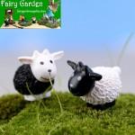 Moss Fairy Garden Micro Landscape Miniature Garden Decorate Fairy Garden Decoration Fairy Garden Accessories  Comic Cartoon Lovely Mini Small Sheep  Black White Sheep  Doll Toy Figurine