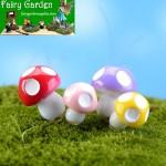 Resin Small Mushroom 4Color Mushroom  Fairy Garden Micro Landscape Miniature Garden Fairy Garden Decoration Fairy Garden Accessories Mushroom