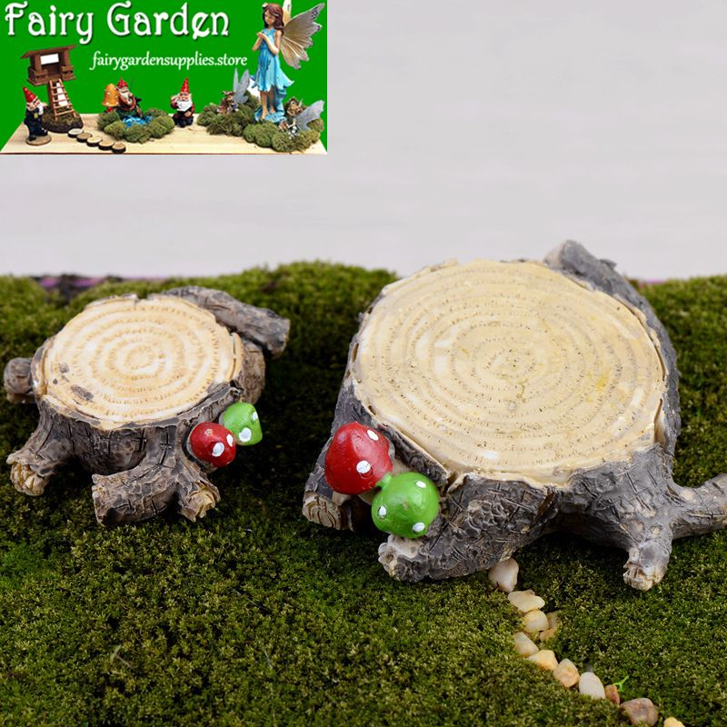 Tree Stump Miniature Fairy Figurines Resin Bonsai Micro Landscape Diy Crafts Fai