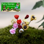 Moss Fairy Garden Micro Landscape Miniature Garden Fairy Garden Ornament  Emulational Flower  Calla  Tulips  DIYAssemble Small Fairy Garden Decoration Fairy Garden Accessories