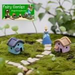 Moss Fairy Garden Micro Landscape Miniature Garden  Material Fairy Garden Accessories  Pot Decorate   Two Color Small House AStyle   DIYMaterial