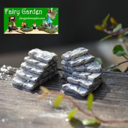Stone Steps  Steps  Small Stairs  Small Road Stairs Moss and Lichen Fairy Garden Micro Landscape Miniature Garden Fairy Garden Decoration Fairy Garden Accessories  Resin Arts and Crafts Fairy Garden Decoration Fairy Garden Accessories