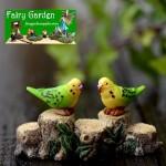 Mini Fairy Garden Birds Pot Bonsai Micro Landscape Miniature Garden Landscaping Material Decorate Terrariums Fairy Garden Decoration Animals Fairy Garden Accessories  Gorgeous Parrot Doll