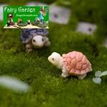 Mini Fairy Garden Tortoise Miniature Fairy Garden Decoration Doll House Micro Landscape Decoration Miniatures SucculentTerrarium Fairy Garden Sea Turtle Aquarium Accessories