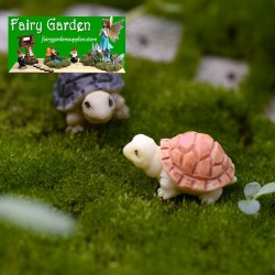 Moss Fairy Garden Micro Landscape Miniature Garden  Succulent Plants Fairy Garden Decoration Fairy Garden Accessories  Two Color Small Turtles  Tortoise   Small Fairy Garden Decoration Fairy Garden Accessories DIYMaterial