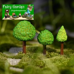 Emulational Green Trees  Small Tree  Doll Model  Moss Fairy Garden Micro Landscape Miniature Garden Fairy Garden Decoration Fairy Garden Accessories  Succulent Plants Fairy Garden AccessoriesDecorate Material