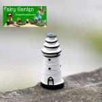 Cheap Indoor Mini Fairy Garden Supplies Resin Lighthouse Container Micro Landscape Miniature Garden Ecology Bottle Pot Bonsai Fairy Garden Ornament Small White Lighting Pagoda DIY Terrariums Fairy Garden Accessories